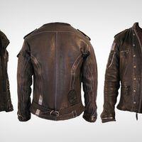 Lavanderia jaqueta de couro
